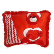 Ultra Teddy Face Pillow (1070UST),  red