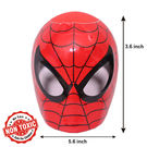 Itoys Marvel Ultimate Spiderman Shape Coin Bank,  red