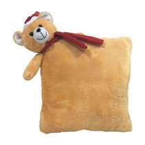 Ultra Christmas Teddy Pillow 12 Inches (1217UST),  brown