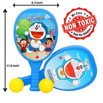 Itoys Doreomon My First Plastic Racket Set,  red