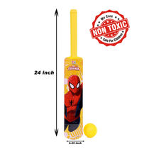Itoys Marvel Ultimate Spider Man-Plastic Bat & Ball-Sr Size-Pvc Packing,  red