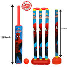 Itoys Marvel Ultimate Spider Man Cricket Set With 4 Wickets-Big Size, multicolor
