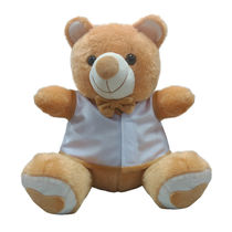 Ultra Bow & Jacket Teddy Soft Toy 15 Inches (1113UST),  brown