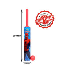 Itoys Marvel Ultimate Spider Man Plastic Bat & Ball-Big Size-Pvc Packing,  red