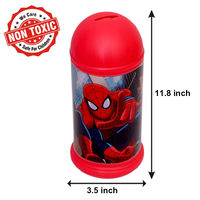 Itoys Marvel Ultimate Spider Man Coin Bank,  red