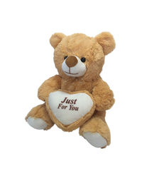 Ultra Plush Valentines Teddy Bear 12 Inches Holding Heart - Just For You (1230UST),  brown