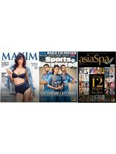 (Maxim) + (Sports Illustrated) + (Asia Spa India), 1 year, english