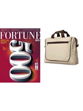 Fortune India (English, 1 Year) Get Laptop Sling Bag