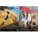 (Architecture+ Design) + (Better Homes & Gardens), 1 year, english