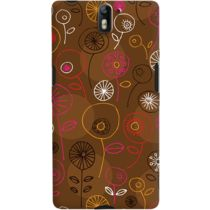 DailyObjects Brown Floral Case For OnePlus One