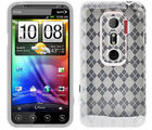Amzer Luxe Argyle High Gloss TPU Soft Gel Skin Case - Clear - HTC EVO 3D (Clear)