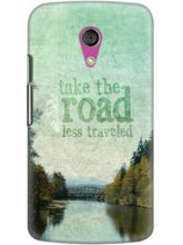 DailyObjects Road Less Traveled Case For Motorola ...