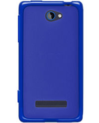 Amzer Hybrid TPU Case - Translucent Blue - HTC Windows Phone 8S, standard-blue