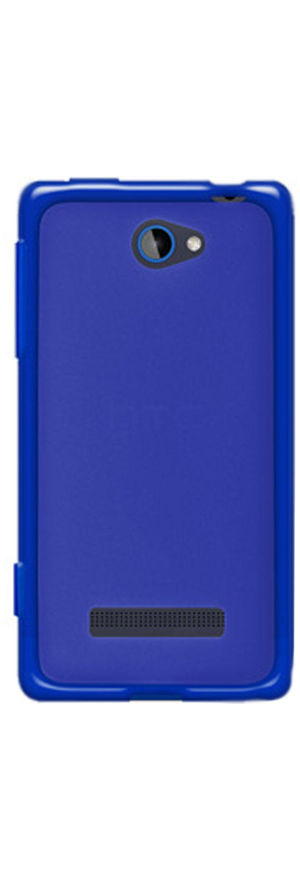 Amzer Hybrid TPU Case - Translucent Blue - HTC Windows Phone 8S (Blue)