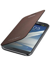 Samsung Flip Cover for Galaxy Note 2 (Brown)