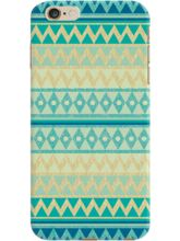 DailyObjects Glittering Chevron In Gold And Mint C...