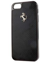 Ferrari GT Black Carbon Hardcase with Black Frame for iPhone 5/5S,  black