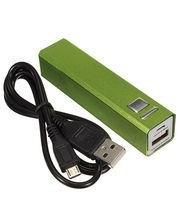 Callmate 2600 MAh Metal Power Bank, Green