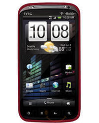 Amzer Silicone Skin Jelly Case - Red for HTC Sensation, standard-red
