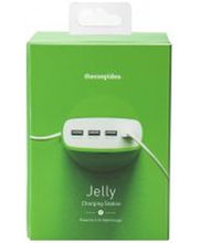 5.1A 4 Port USB Travel Charger EU Plug, Green