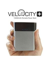 Portronics Velocity Plus 13400 mAh Power Bank,  grey
