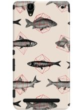 DailyObjects Fishes In Geometrics Case For Sony Xp...