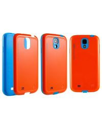 TOTU Neon Series Cover for Samsung Galaxy S4, orange blue