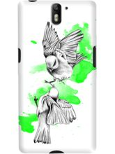 DailyObjects Green Birdies Case For OnePlus One