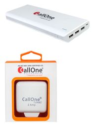 CallOne Combo (30000mAh Turbo Power Bank+ 2A Charger with Cable)