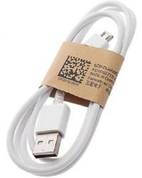 Yonkx USB mobile charging/data cable Battery Charger (White),  blue