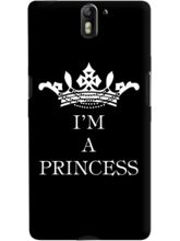DailyObjects I Am A Princess Black Case For OnePlu...