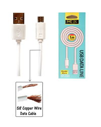 High Coins Micro USB Hi Speed of 58 Copper Wire Data Cable,  white