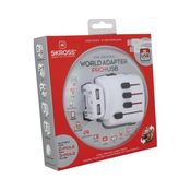 Skross World Adapter Pro Usb,  white