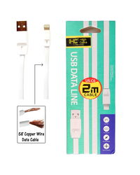 High Coins iOS Lighting USB Hi Speed 2 Meter Data Cable of 58 Copper Wire,  white