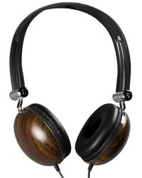 Sound Logic Wooden Stereo Headphones,  dark brown