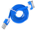 Callmate iPhone/iPad/iPod USB Flat Data & Charging Cable (Blue)
