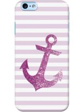 DailyObjects Glittering Anchor In Pink Case For IP...