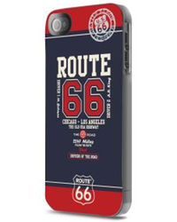 Route 66 Red & Blue Hard case+ Screen protector for iPhone 5/5S, redblue