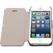 Callmate Flip Case with free Screen Guard iPhone 5,  white
