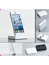 Callmate 8-Pin Lightning Data Sync / Charging Docking Station For iPhone 5 With Free Screen Guard, white