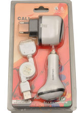 Callmate 3-in-1 IPhone Car And Wall Charger (White)
