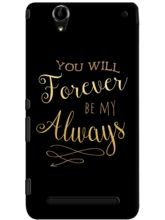 DailyObjects Be My Always Gold On Black Case For S...