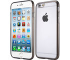 Callmate 2 in 1 Bumper Case with Clear Back Panel for iPhone 6 Plus 5.5 inch with Free Screen Guard, grey