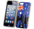 Bling TPU IML Cover UK Stars print -iPhone 5 (Multicolor)