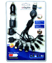 Digitek USB Travel Charger (10 In 1) Kit, Black