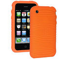 Amzer Wave Silicone Skin Jelly Case for iPhone 3G S, orange