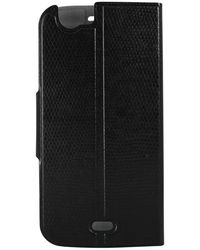 Molife Diary Cover for Micomax A 250 with free screen guard (M-MLP9463BK),  black