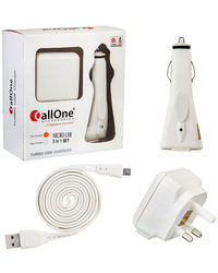 CallOne Turbo Charger 3 in 1 Set Micro USB
