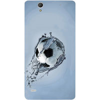 Casotec Football In Water Design Hard Back Case Cover for Sony Xperia C4