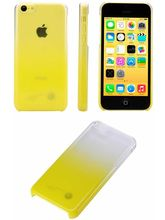Kingcom Dual Color Transparent Back Case for iPhone5C, yellow
